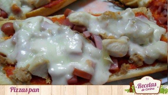 Pizzas pan, para aprovechar el pan duro y las sobras de unos platos