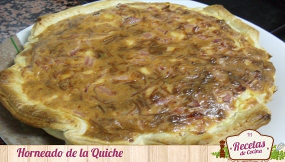 Quiche de jamón york,queso y bacon
