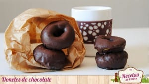 Donetes de chocolate