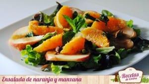 Ensalada de naranja y manzana