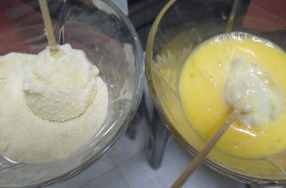 Huevos con bechamel