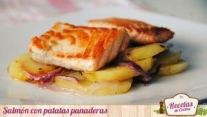 Salmón con patatas panaderas