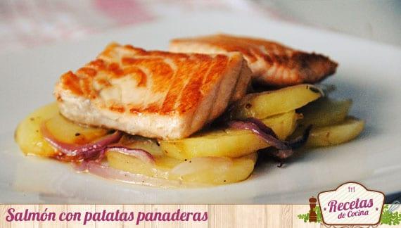 Salmón con patatas panaderas, una interesante mezcla de sabores