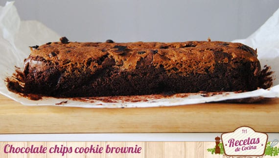 Chocolate chips cookie brownie