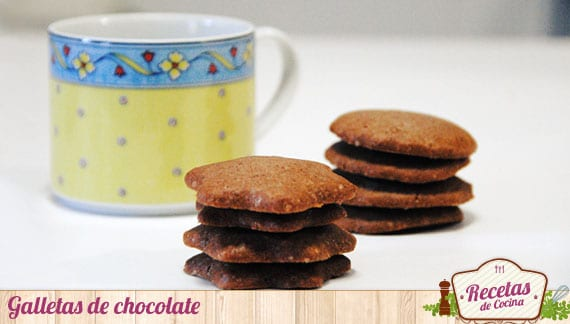Galletas de chocolate, un bocado crujiente