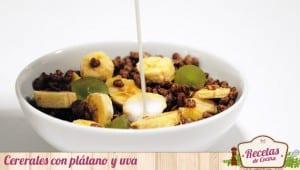 Cereales con plátano