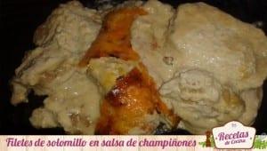 Filetes de solomillo en salsa de champiñones y nata