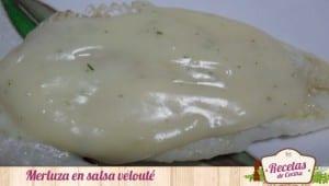 Merluza en salsa velouté