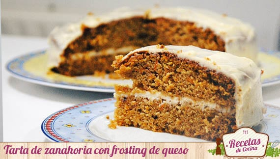 Tarta de zanahoria con frosting de queso