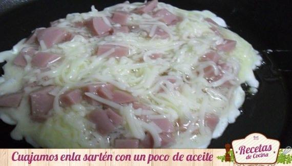 Tortilla francesa sin yemas