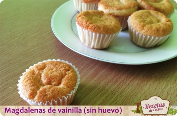 Magdalenas De Vainilla Sin Huevo Para Meriendas Con Niños Recetas De Cocina