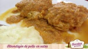 Albondigón de pollo en salsa