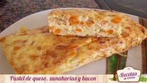Pastel de zanahorias y queso