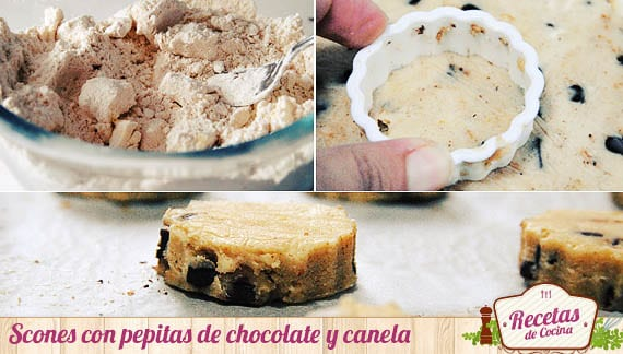 Scones con canela y chocolate