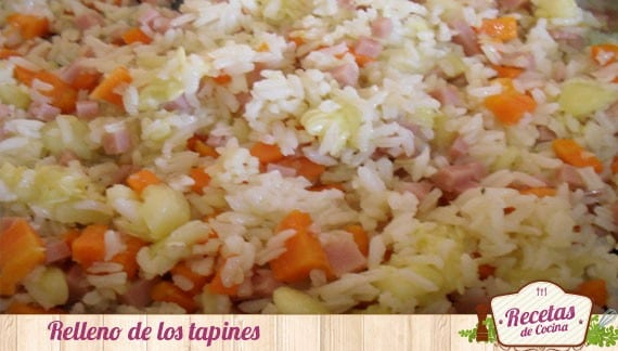 Tapines rellenos de arroz y zanahorias