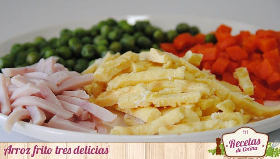 Arroz frito tres delicias ingredientes