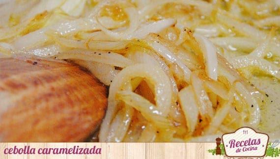 caramelizando la cebolla