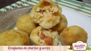 Croquetas de chorizo y arroz