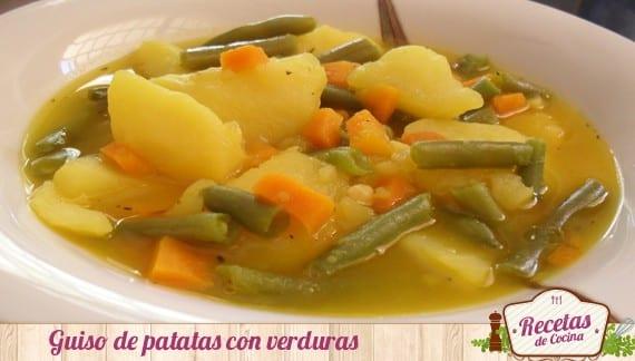 Guiso de patatas con verduras