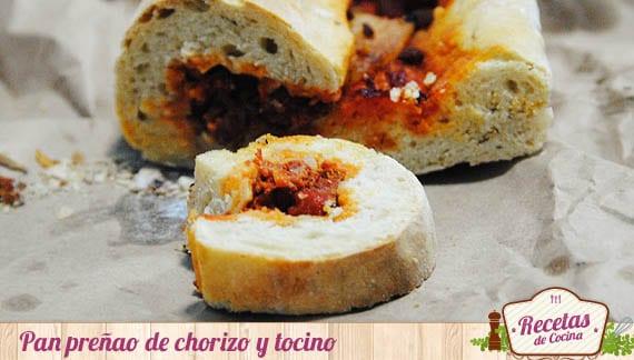 Pan preñao de chorizo y tocino