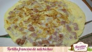 Tortilla francesa de salchichas