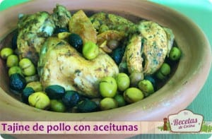 Tajine de pollo con aceitunas