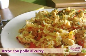 Arroz con pollo al curry