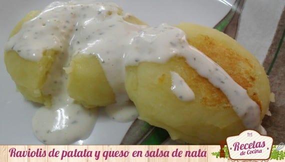 Raviolis de patatas y queso