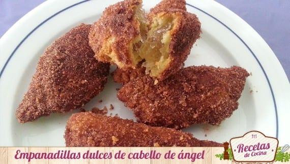 Empanadillas dulces con cabello de ángel