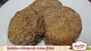 Galletas rellenas fritas