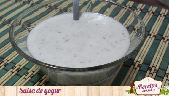 Receta de salsa de yogur casera