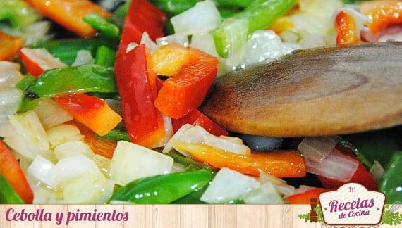 Cebolla y pimientos