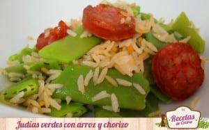 Judías verdes con arroz y chorizo