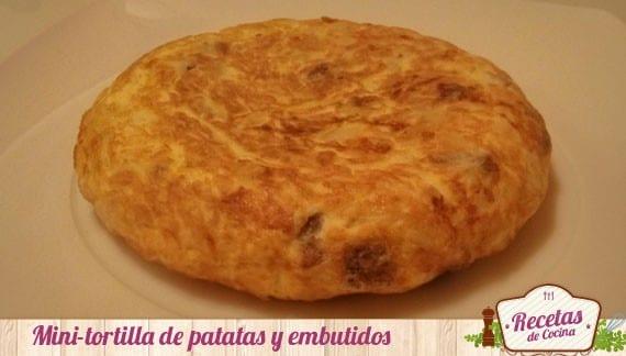 Mini tortilla de patatas y embutidos