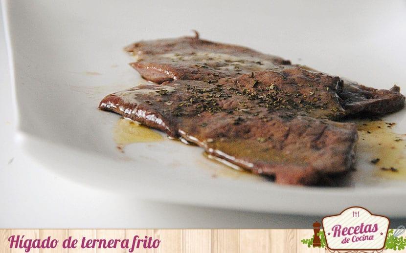 Hígado de ternera frito, sencillo y rápido