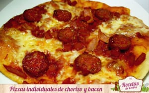 Pizza de chorizo y bacon
