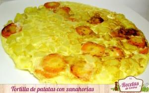 Tortilla de patatas y zanahorias