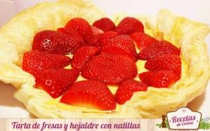 Tarta de fresas y hojaldre