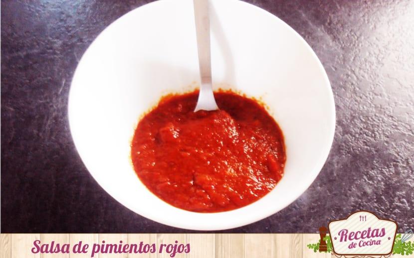Salsa de pimientos rojos
