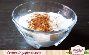 Crema de yogur casera