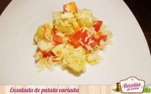 Ensalada de patatas variadas