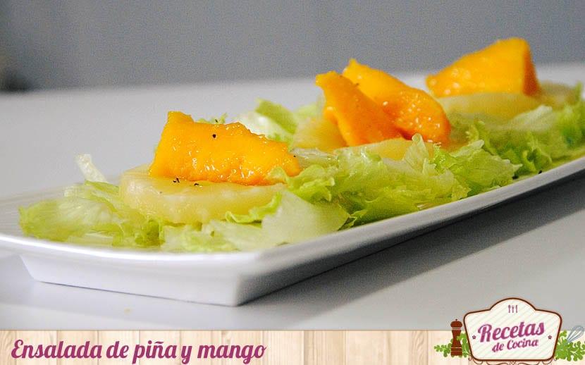 Ensalada de piña y mango