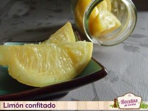 Limón confitado