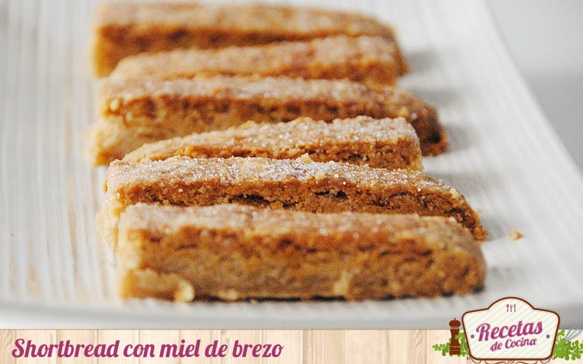 Shortbread con miel de brezo