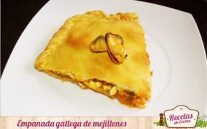 Empanada gallega de mejillones