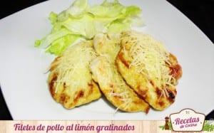 Filetes de pollo al limón gratinados