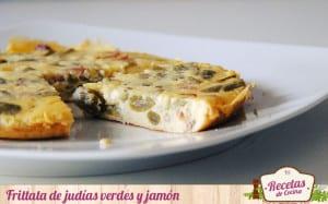 Frittata de judías verdes y jamón