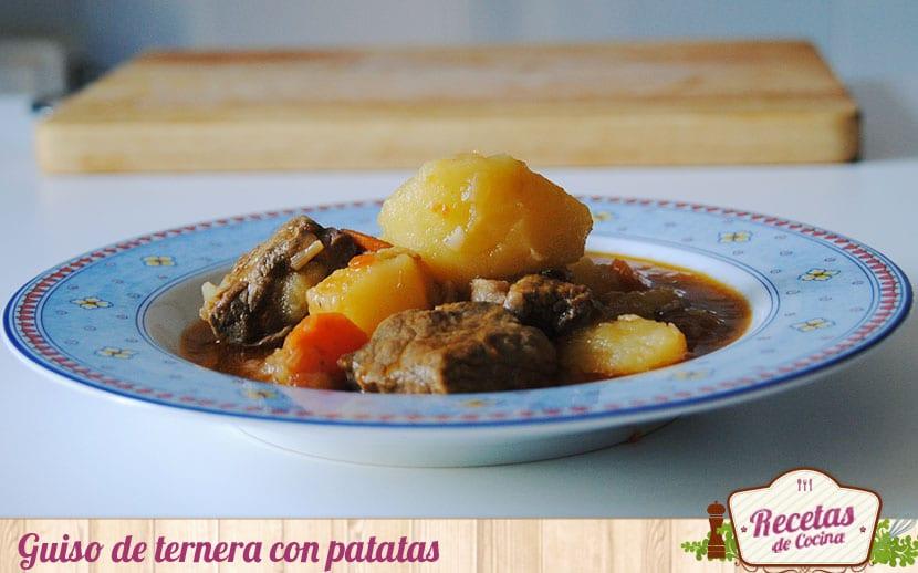 Carne de ternera guisada con patatas