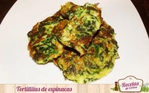 Tortillitas de espinacas y queso