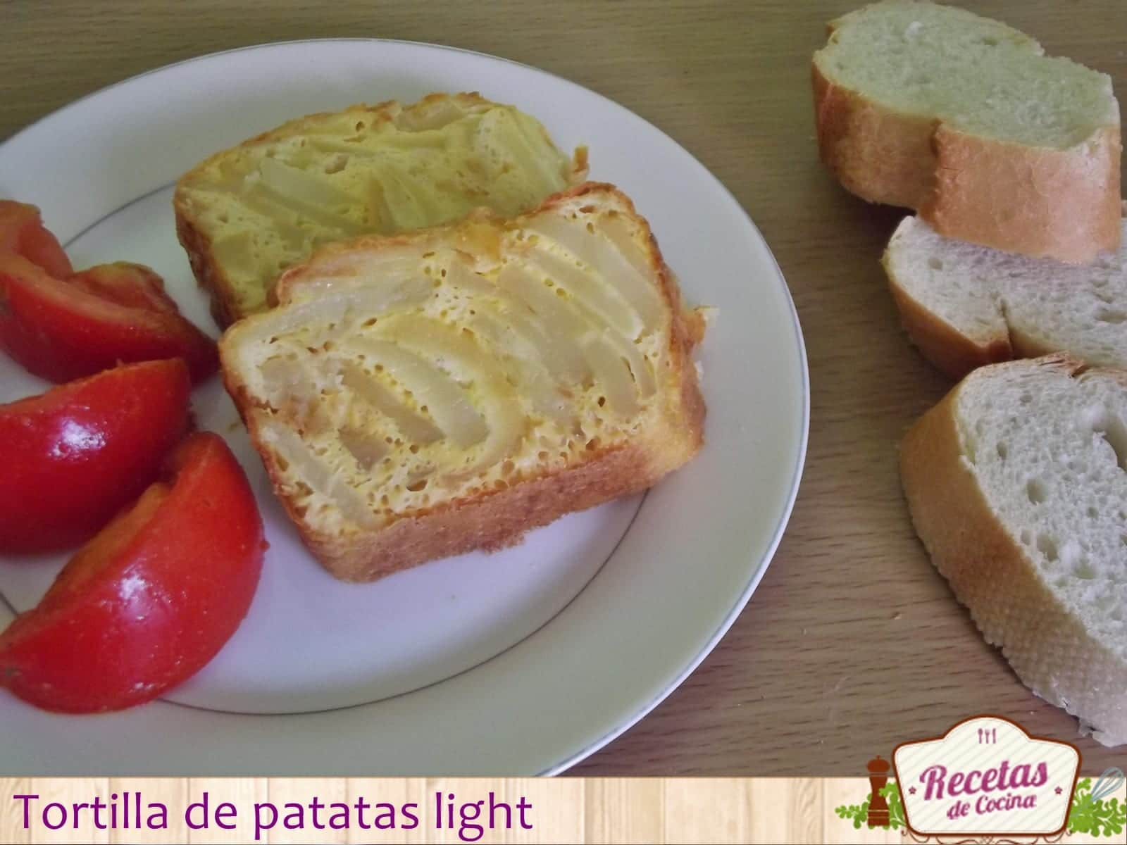Tortilla de patatas light, una opción saludable